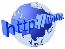 连接数互联网 库存图片