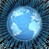 连接数全球互联网 图库摄影