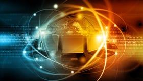 连接数全球互联网 库存图片