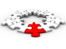 连接数领导 库存例证