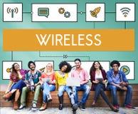 连接无线网上传输调动概念 图库摄影