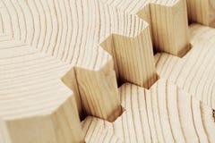 连接木被碾压的表面饰板木材 免版税库存照片