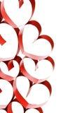 连接的丝带心脏 免版税库存图片