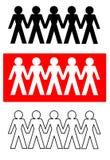 连接的人向量 免版税库存照片
