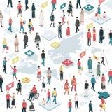 连接的人民环球 向量例证