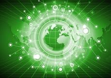 连接的全世界 免版税库存照片