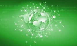 连接的全世界 免版税库存图片