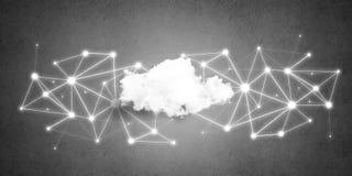连接的无线技术和分享数据作为抽象概念 库存照片
