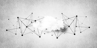 连接的无线技术和分享数据作为abstrac 库存照片
