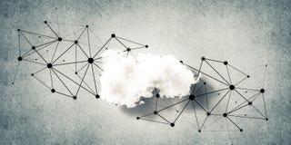 连接的无线技术和分享数据作为abstrac 库存图片