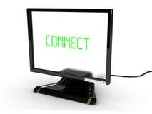 连接监控程序 免版税库存照片