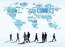 连接社会媒介互联网链接网络概念 库存照片