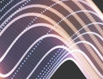 连接结构 抽象栅格设计 3d科学的传染媒介例证 免版税库存图片