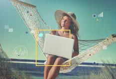 连接通讯技术互联网生活方式概念 免版税库存照片