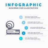 连接,硬件,互联网,网络线象有5步介绍infographics背景 皇族释放例证