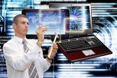 连接 一代新的计算机科技 连接数 免版税库存图片