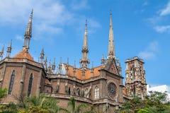 连斗帽女大衣教会或耶稣圣心教会Iglesia del萨格拉多Corazon -科多巴,阿根廷 免版税库存照片