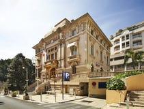 连栋房屋在Canton de Beausoleil 法国 免版税图库摄影