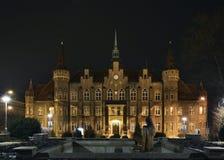 连栋房屋在Walbrzych镇 波兰 免版税图库摄影
