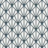 连结的三角嵌石装饰 与重复的扇贝的当代印刷品 与鱼鳞的无缝的样式 向量例证