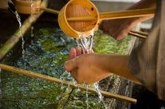 连续寺庙水 免版税图库摄影