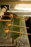 连续寺庙水 免版税库存图片