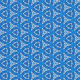 连续的蓝色小游艇船坞招标样式 免版税库存图片