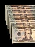 连续的货币编号 免版税库存图片
