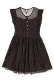 黑连衣裙 免版税库存图片