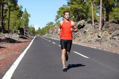 连续人-男性赛跑者跑步 库存图片