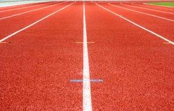 连续体育场跟踪 免版税库存图片