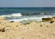 连续海波浪 库存照片