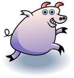 连续猪 向量例证