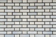 连续的复制品的白色砖墙无缝的样式背景纹理 免版税库存照片