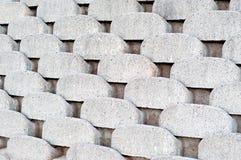 连结的水泥护墙 免版税库存照片