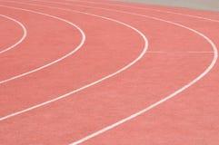连续轨道在体育场内 免版税图库摄影