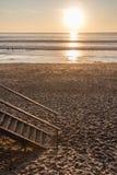 延迟下午的海滩 免版税库存图片