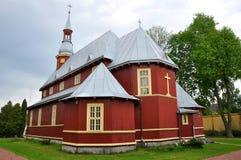 迟来的 发怒教会的海拔在巴拉诺维奇 免版税库存图片