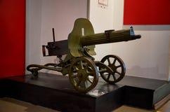 迟来的 对战争的布雷斯特入口堡垒主要纪念品 布雷斯特堡垒英雄的防御博物馆的展览  第二个世界W的机枪 免版税库存图片