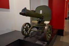 迟来的 对战争的布雷斯特入口堡垒主要纪念品 布雷斯特堡垒英雄的防御博物馆的展览  第二个世界W的机枪 库存图片