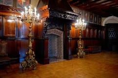 迟来的 Radziwill家庭的涅斯维日城堡 城堡的内部 2017年5月22日 免版税库存图片