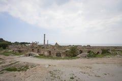 迦太基, Antonine Thermae,突尼斯,突尼斯考古学站点  图库摄影