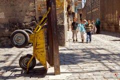 迪亚巴克尔,土耳其后面胡同  免版税库存照片