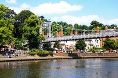 迪伊吊桥,彻斯特 免版税图库摄影
