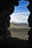 从迪伊怀特观测所看见的Belknap火山口 免版税库存图片
