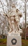 费迪南德I国王雕象伟大(大约1753)。马德里, Spai 免版税图库摄影
