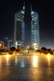 迪拜。酋长管辖区塔 免版税库存图片