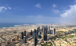 迪拜。 世界贸易中心 免版税库存图片