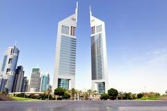 迪拜。 酋长管辖区塔 免版税库存照片