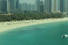 迪拜亚特兰提斯水前面 免版税库存图片